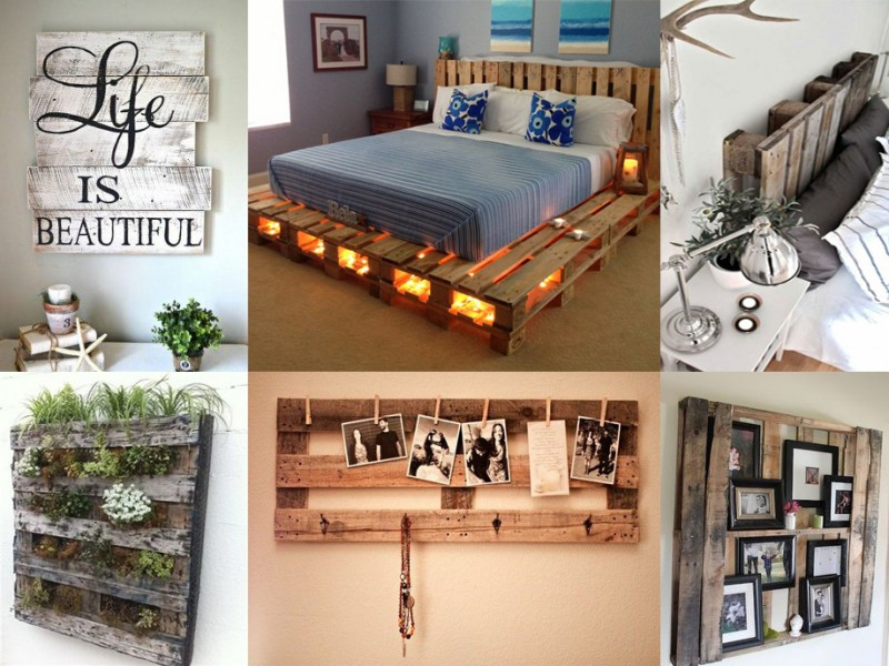 Palets con tendencias decorativas