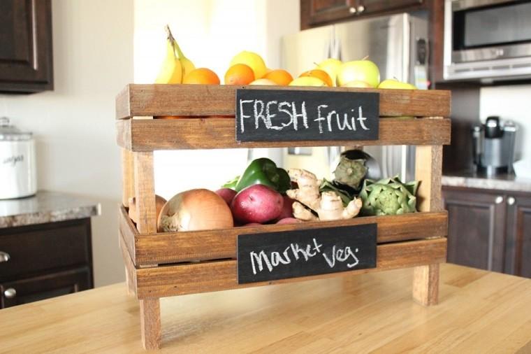 Caja de fruta con palets para cocina