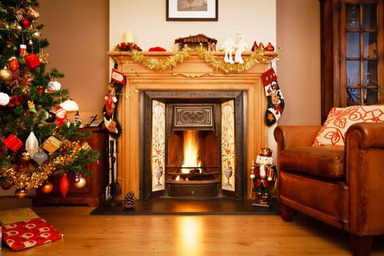 Decoracion navideña en chimeas