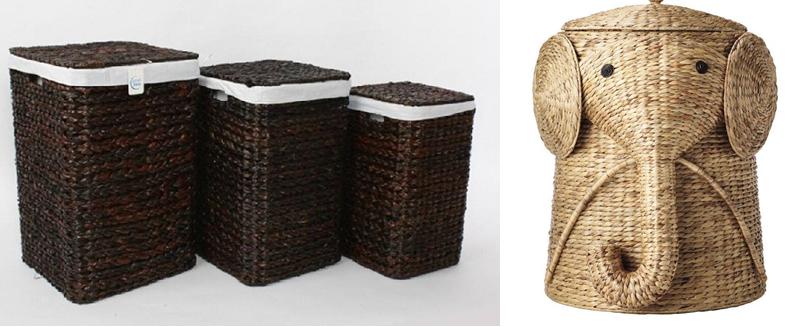 cestas decorativo con mimbre