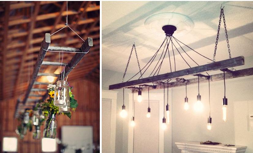 diseño de techo con lamparas