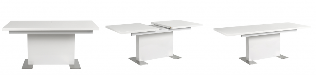 mesa blanca extensible