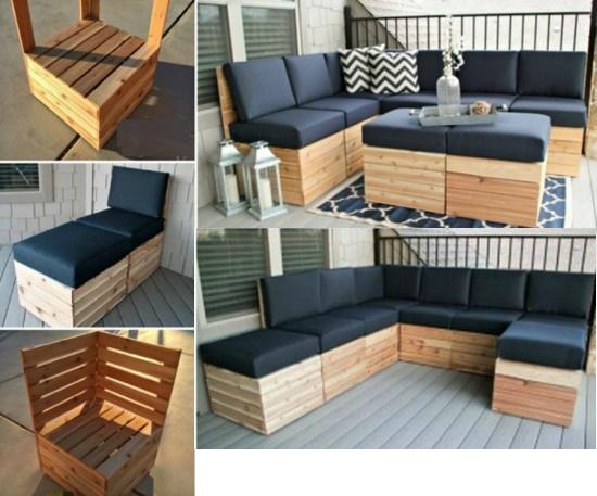 Atractiva adicci n por los palets sofas con estilo - Estructuras con palets ...