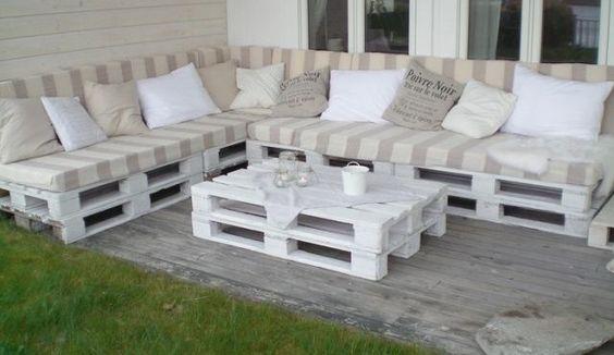 Atractiva Adicción Por Los Palets Sofas Con Estilo Diseño