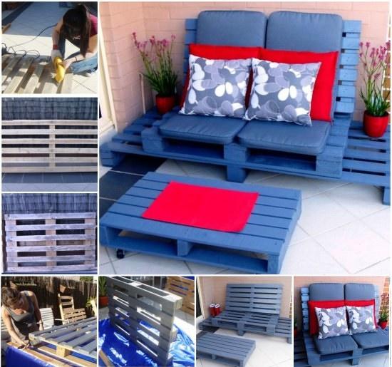 sofas de palets con colores