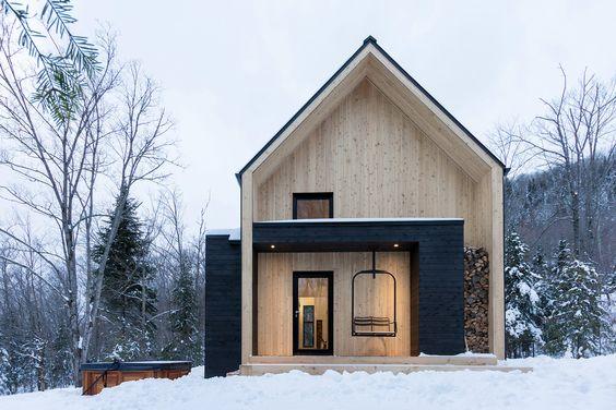 casas modernas techo a dos aguas