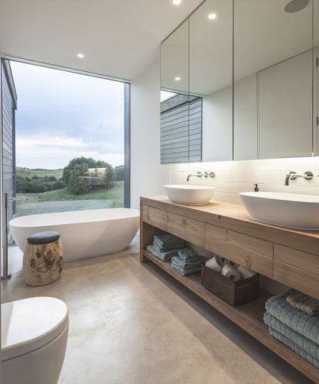 baño abierto elegante