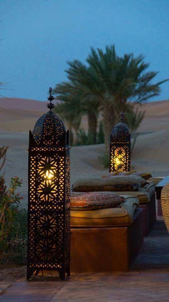 lamparas de exteriores arabes
