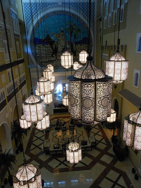 galeria de lamparas diseño arábe